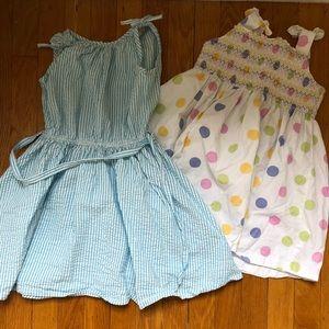 Girls Sz 4 Dresses Lands End and Ralph Lauren